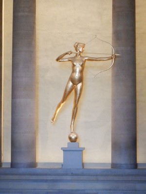 Diana, Augustus Saint-Gaudens, 1893; arguably the best known work of America's finest sculptor at the turn of the century, Diana originally stood on the tower of the original Madison Square Garden in NYC