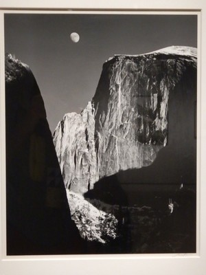 Monolith-The Face of Half Dome, Yosemite National Park, Ansel Adams, 1950; this majestic view was one of Adams' most important and groundbreaking early photographs