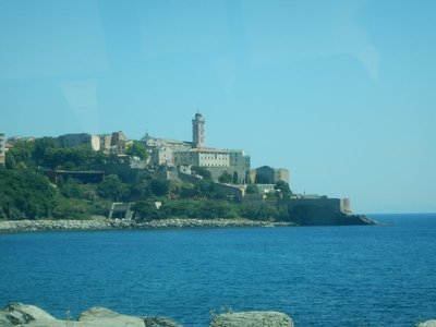 The Bastia airport is an hour south of the town but a convenient bus goes directly there for 9 euros