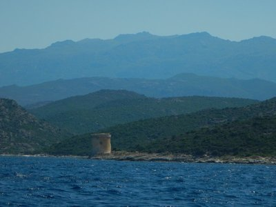 The Genoese built towers all around the island in the 16th century; you can see how Corsica is mountains, mountains and more mountains