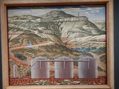 Pecos Escarpment, Alexandre Hogue, 1937; a Realist, Hogue believed the destroyed state of the land in the Southwest was the fault of the human inhabitants