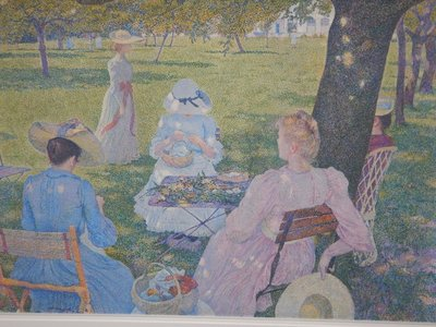 Van Rysselberghe, In July Before Noon, 1890; this Dutch artist, that I had not heard of, seems to be inspired by Seurat