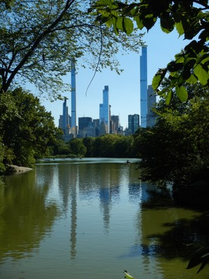 With 98 floors and completed in 2020, the Central Park Tower (on right) is the tallest residential building in the world; on the left is 111 West 57 Street (aka Steinway Tower) which was completed in 2021 and is the world's most slender skyscraper