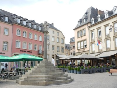 The Place du Marche is the main square; the town has been called a miniature Salzburg