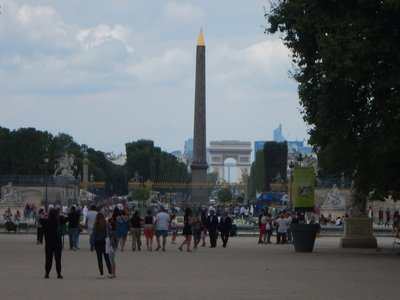You know you're in Paris when you're headed to one monument and glance to the side and see the Luxor Obelisk and the Arc de Triomphe