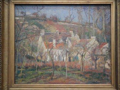 Pissarro, Red Roofs, Cote Saint-Denis a Pontoise, Winter Effect, 1877