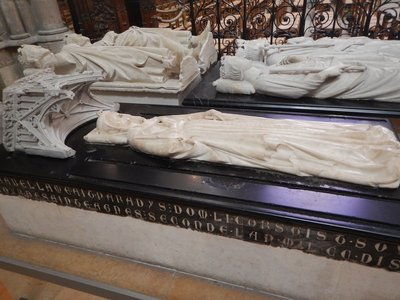 It would have helped to be an expert in French royalty; for example, the closest tomb is Isabella of Aragon, Queen of France1271, who died from falling off a horse