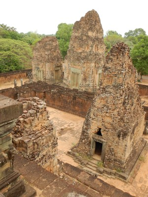 Our tour only saw 2 temples each of the 2 days of our visit but I wanted to see more so I walked to others, such as Pre Rup; there was no signage at the temples so I referenced Wikipedia