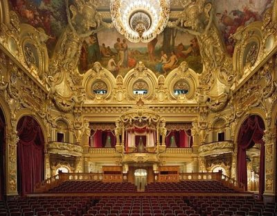 The Opera de Monte Carlo was inaugurated in 1879 with a performance by Sarah Bernhardt; the ornate style is similar to the Garnier Opera in Paris but in a much more intimate setting, there are only 524 seats here