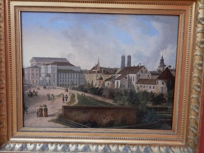 Quaglio, The Royal Residence in Munich from the North-East in 1827, 1827