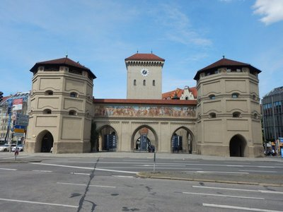 The 1337 Isartor is the best preserved remaining city gate that was part of the second city wall built around Munich from 1285-1337