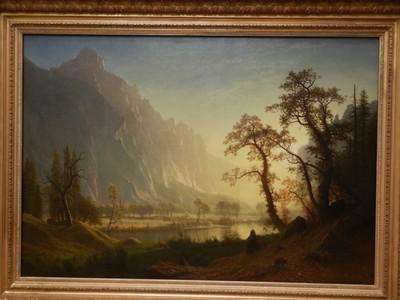 Sunrise, Yosemite Valley, Albert Bierstadt, ca. 1870; Bierstadt wrote of Yosemite - We are now in the Garden of Eden ... the most magnificent place I was ever in