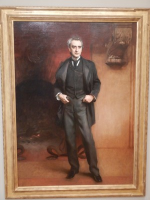 Edwin Booth, John Singer Sargent, 1890; Booth was one of the most famous actors of his day but is better remembered as the brother of John Wilkes Booth who assassinated President Abraham Lincoln