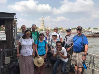Jonathan and I were joined by 2 Canadian couples, a woman from London, a man from Cologne, a woman from the Sierra foothills in California and our tour guide from Cambodia