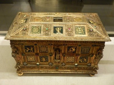 1560 jewelry box; much of the Wittelsbach collection was confiscated from the church although I'm not sure why they would have pieces like this