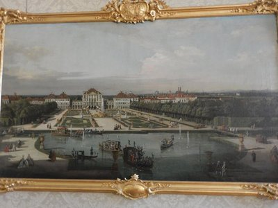 Nymphenburg Palace. Canaletto, 1761; displayed at Munich Residenz, the Nymphenburg still looks the way it did 250 years ago