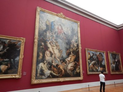 Rubens, The Great Last Judgement, 1612; it's hard to imagine how Rubens completed so many works when his canvases are enormous and detailed