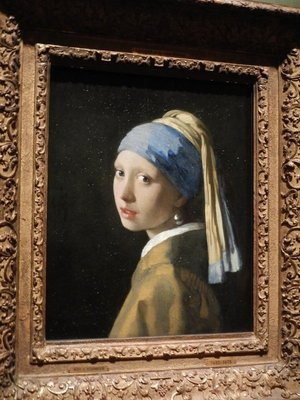 Johannes Vermeer, Girl with a Pearl Earring, 1665; called the Dutch Mona Lisa, the painting has gained notoriety recently as the subject of a popular book and movie