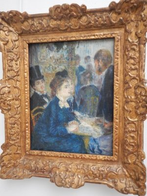 Renoir, In the Cafe, 1877; this museum was enjoyable because, even though crowded, it wasn't claustrophobic