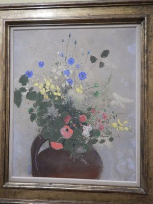 Redon, Bouquet of Wildflowers, 1905; there was a huge special exhibition of Redon's works at the museum but this was the only piece I liked