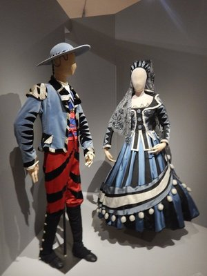 The writer Jean Cocteau, his museum was on the Riviera in Menton, convinced Picasso to design the costumes for his opera Parade