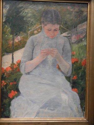 Cassatt, Young Girl in the Garden, 1882