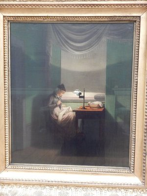 Kersting, Young Woman Sewing by the Light of a Lamp, 1823