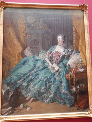 Boucher, Madame de Pompadour, 1756; Rick Steve's likes the Alte Pinokothek better than the Neue Pinokothek but my tastes would have them reversed