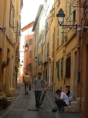 Unlike many towns, Menton seems to be thriving with young people and fewer homes and businesses for rent