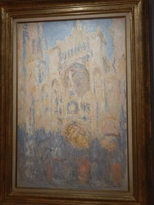 Monet, Rouen Cathedral, effects of sun at the end of the day, 1892; I felt the Monet's at the Orsay were superior works to those here