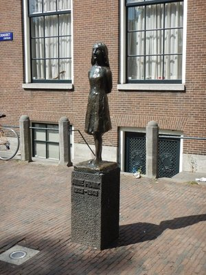People were smiling and happy taking their photo with Anne Frank; I hope people haven't forgotten why she is famous and become complacent in preventing future atrocities