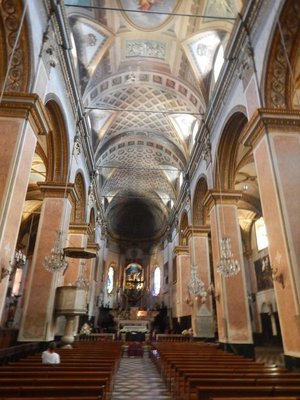 The Church of Saint Mary; the Bastia churches were all built around the same time giving them the same look and feel