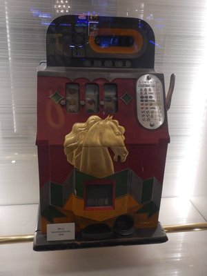 1948 slot machine; in the good old days you actually had to feed coins to the machine and then, hopefully, heard the glorious sound of your winnings falling out of the machine