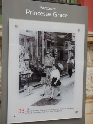 Photos of Princess Grace were displayed around the principality and we're numbered but I never saw a map of the route