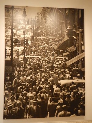 Lunch hour on Fifth Avenue in NYC; it seems strange that there would be so many more people in 1948 than in the same area today