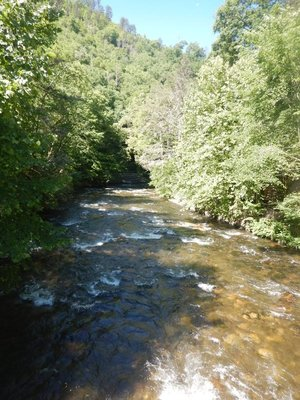 The Raven Fork of the Oconaluftee is close to the entrance to Great Smoky Mountains National Park and the Blue Ridge Parkway