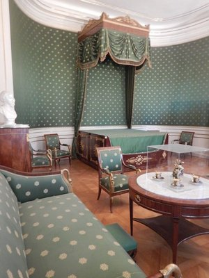 Queen Caroline's bedroom with its original 1815 furniture; the future King Ludwig II was born in this room on August 25, 1845 (he ascended to the throne at age 18)