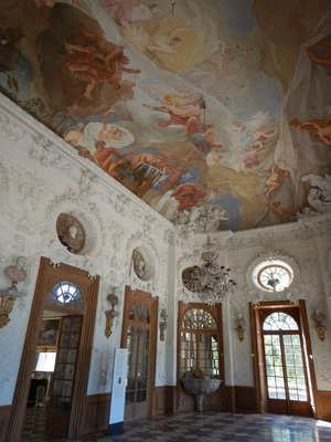 The banquet hall of the Badenburg pavilion; it was free to stroll the palace grounds but you had to have a ticket to visit the outer palaces like this one