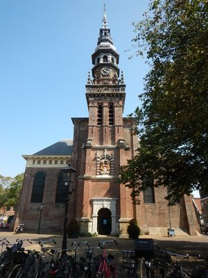 The New Church dates from 1613; this city of 160,000 is only 15 minutes by train from Amsterdam so many people commute there for work