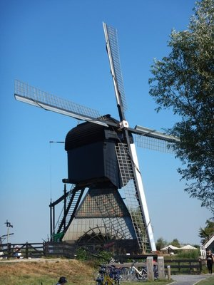 The De Blokker windmill dates from before 1540, more than 200 years before the others; it appeared on a map that year although no one knows when it was built