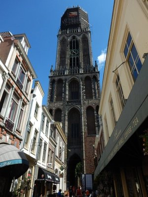 The Utrecht Dom Tower is the tallest in the Netherlands; climbing the narrow stairs to the top can only be done with a guided tour best booked in advance online