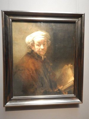 Rembrandt, Self Portrait as the Apostle Paul, 1661; the artist was only 55 but looks much older in this painting