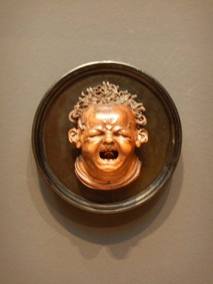 Screaming Child Stung by a Bee, 1615; this boxwood sculpture is probably Cupid after stealing honey by an unknown artist