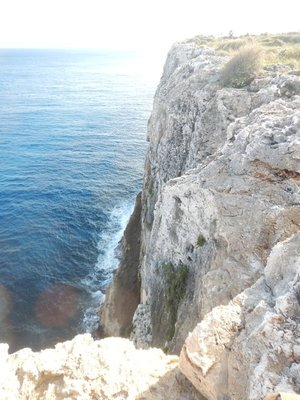 The eastern side of the island ends with 140 ft cliffs; the other two islands in the Caymans are basically flat