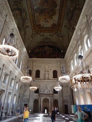 The vast Citizen's Hall in the Royal Palace is 120 feet by 90 feet by 60 feet; the hall is used for hosting foreign dignitaries and royal family wedding receptions