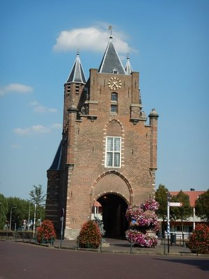 Of the original 12 city gates, this is the only one remaining; built in 1355, it stands where the road from Amsterdam enters the city