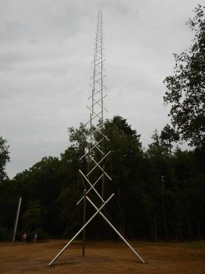 Kenneth Snelson, Needle Tower, 1968; this was my favorite work in the sculpture garden since the structure seemed to defy gravity