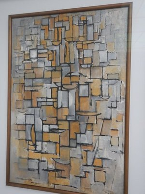Mondriaan, Tableau number 1, 1913; Kroller-Muller had a fondness for collecting the works of Dutch artists (her husband was Dutch) although she was German