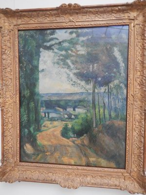 Cezanne, Road Leading to the Lake, 1880; Helene considered buying A Sunday Afternoon on the Island of La Grande Jatte by Georges Seurat, which turned out to be an important icon of 20th-century art, but her art adviser recommended against it