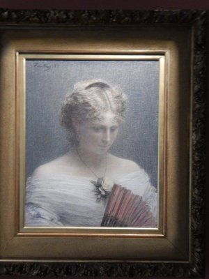 Fantin-Latour, Mademoiselle Charlotte Dubourg, 1882; part of the enjoyment of this museum is the pastoral surroundings and absence of rowdy tourists